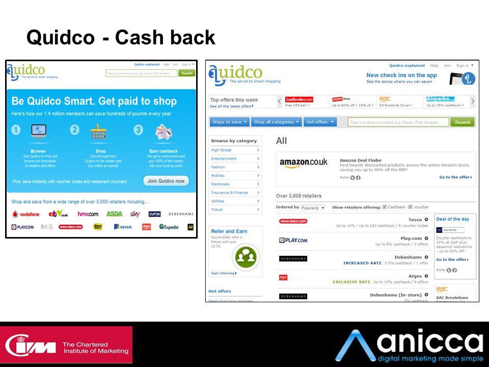 Quidco - Cash back