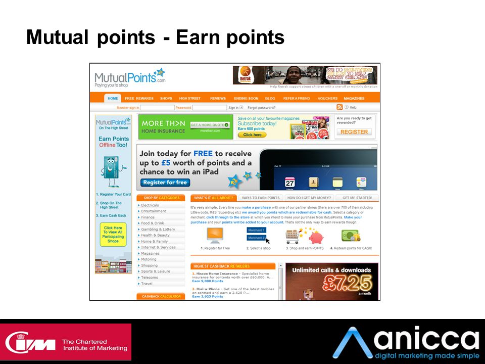 Mutual points - Earn points