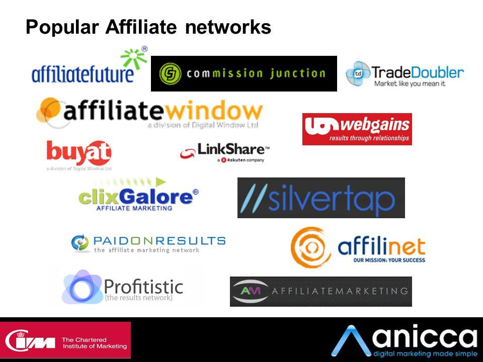 Popular Affiliate networks