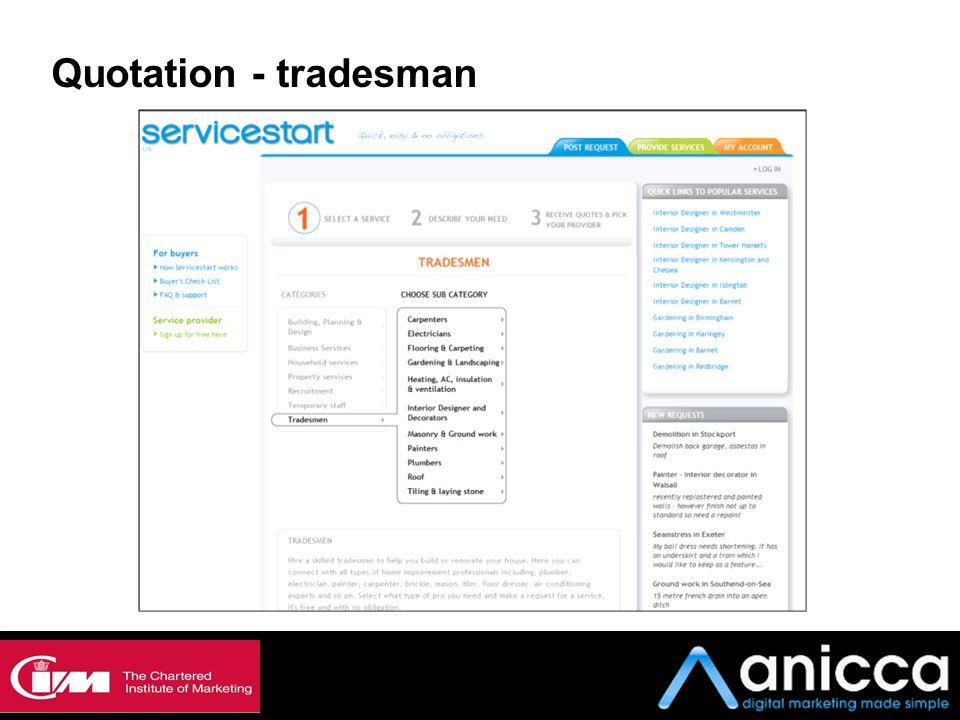 Quotation - tradesman