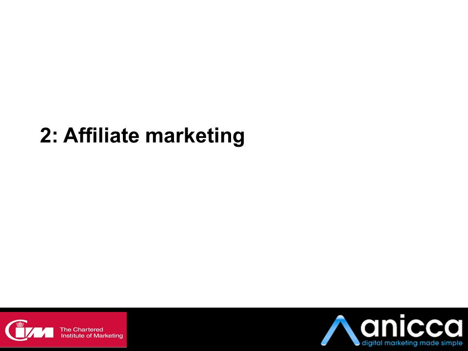 2: Affiliate marketing