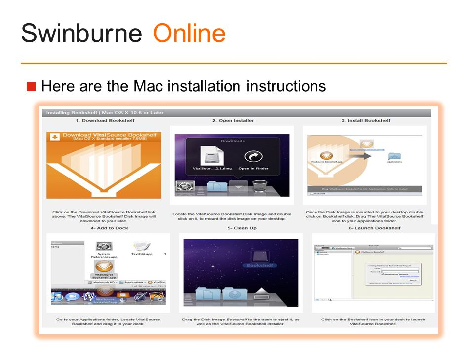 Swinburne Online  Here are the Mac installation instructions