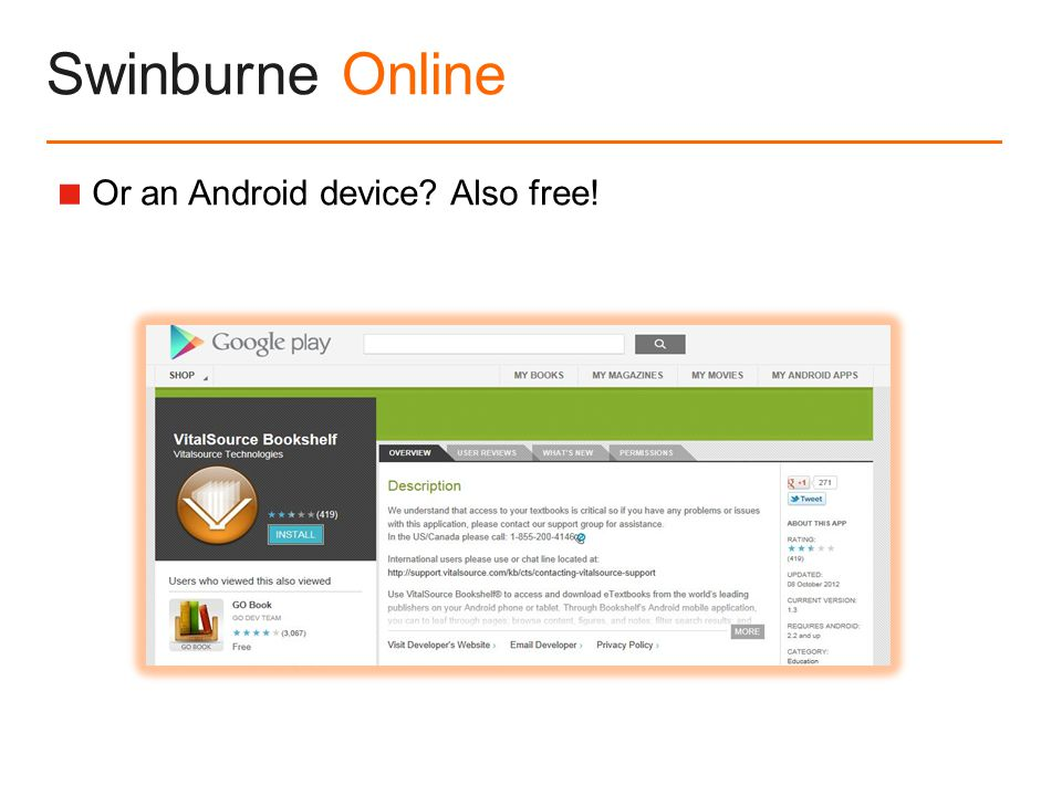 Swinburne Online  Or an Android device Also free!