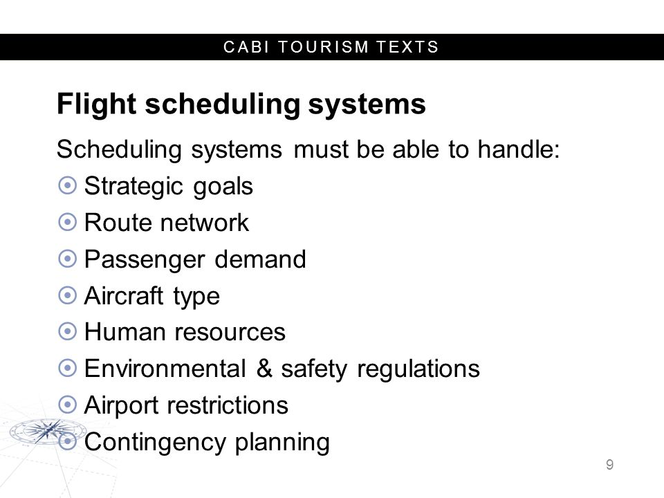 CABI TOURISM TEXTS Revenue Management Systems (RMS) Capabilities:  Historical data  Forecasting  Modeling  Decision support 10