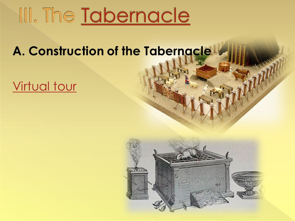 A. Construction of the Tabernacle Virtual tour