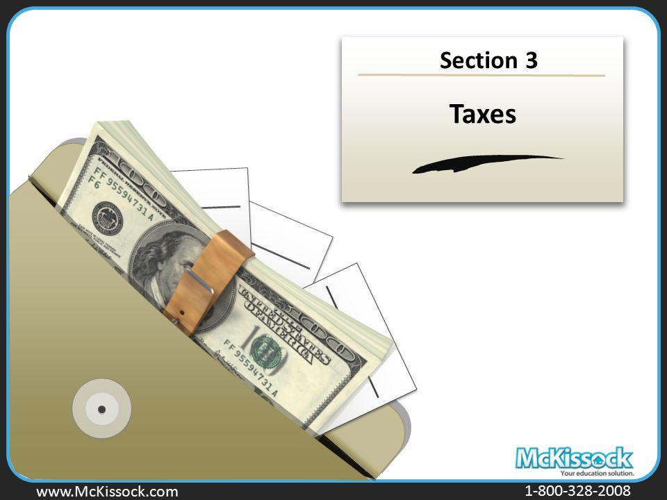 www.Mckissock.com www.McKissock.com 1-800-328-2008 Section 3 Taxes