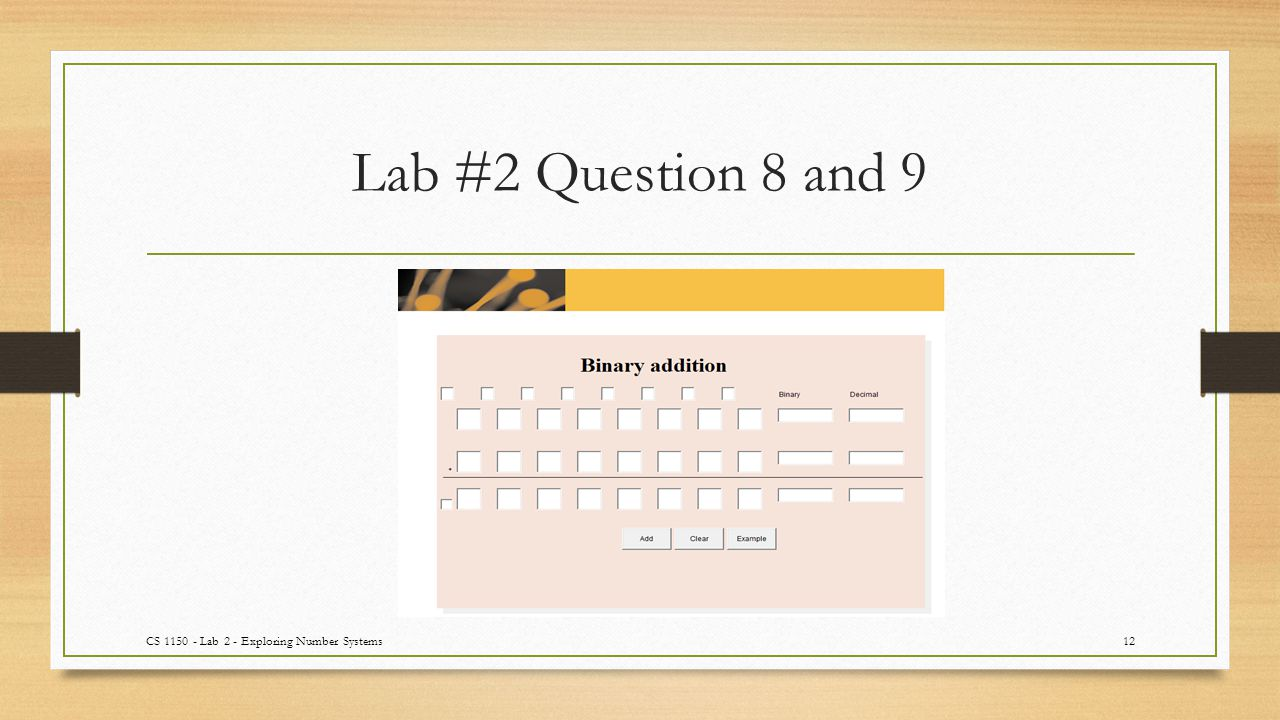 Lab #2 Question 8 and 9 CS 1150 - Lab 2 - Exploring Number Systems12
