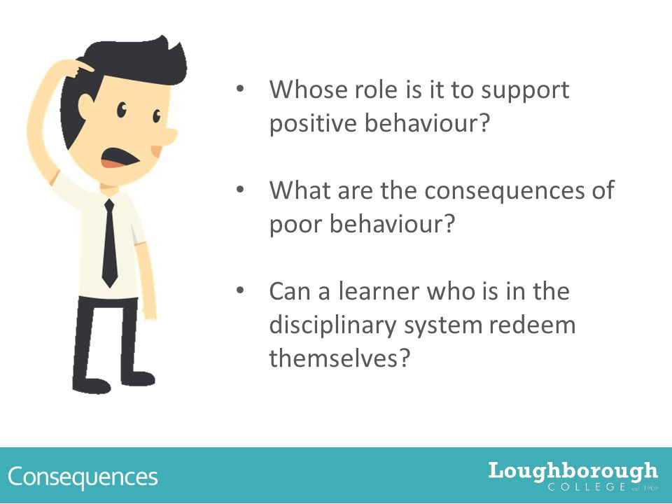 Consequences Whose role is it to support positive behaviour.