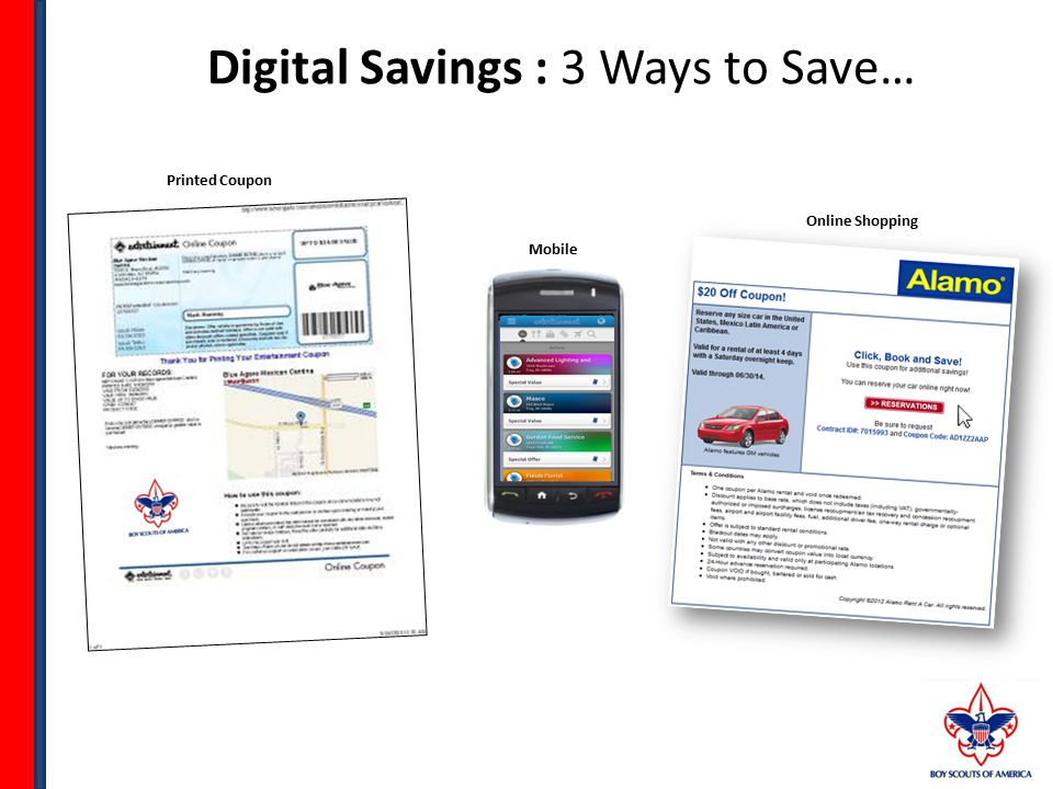 Digital Savings : 3 Ways to Save… Mobile Printed Coupon Online Shopping