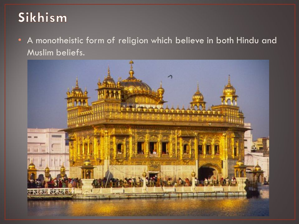 A monotheistic form of religion which believe in both Hindu and Muslim beliefs.
