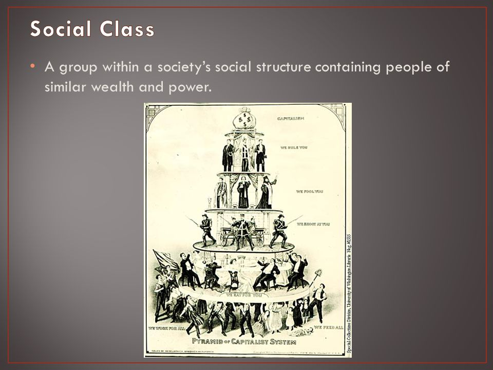 A group within a society's social structure containing people of similar wealth and power.