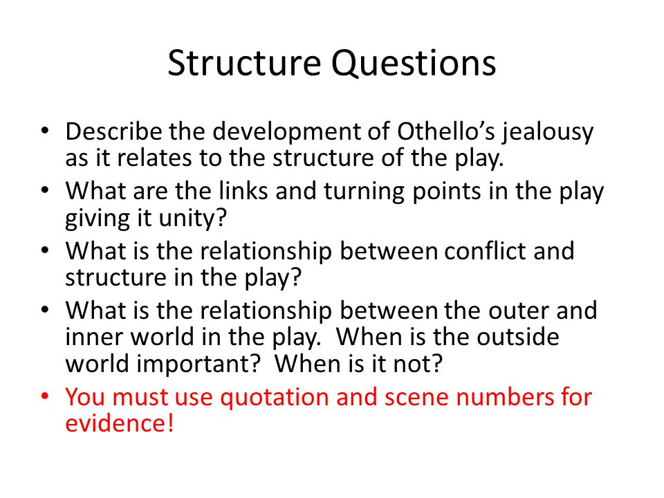 Othello Essay Thesis