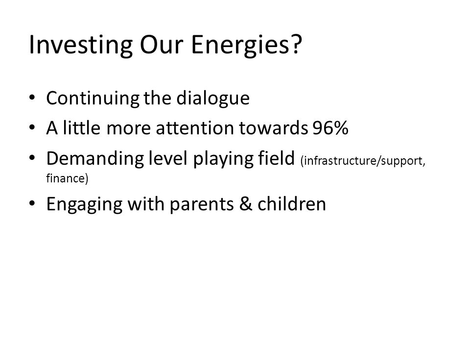 Investing Our Energies.