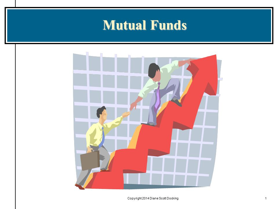 Copyright 2014 by Diane Scott Docking2 Learning Objectives Understand the different types of mutual funds Understand what is contained in a mutual fund prospectus Calculate the net asset value of and the return on a mutual fund investment Identify the main regulators of mutual funds