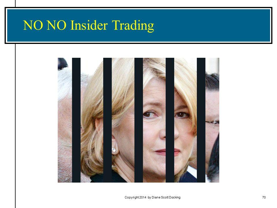 Copyright 2014 by Diane Scott Docking70 NO NO Insider Trading