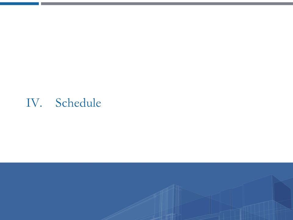 IV. Schedule