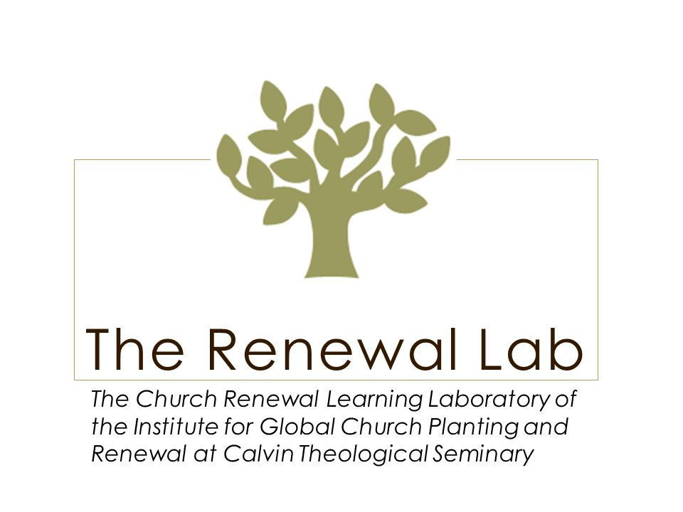The Renewal Lab's Focus The Renewal Lab comes along side congregations that have plateaued or are in decline along with any congregation seeking to regain a focus on their Missional calling.