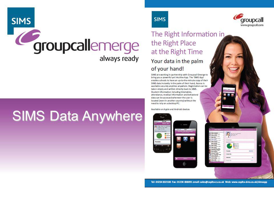 12 SIMS Data Anywhere