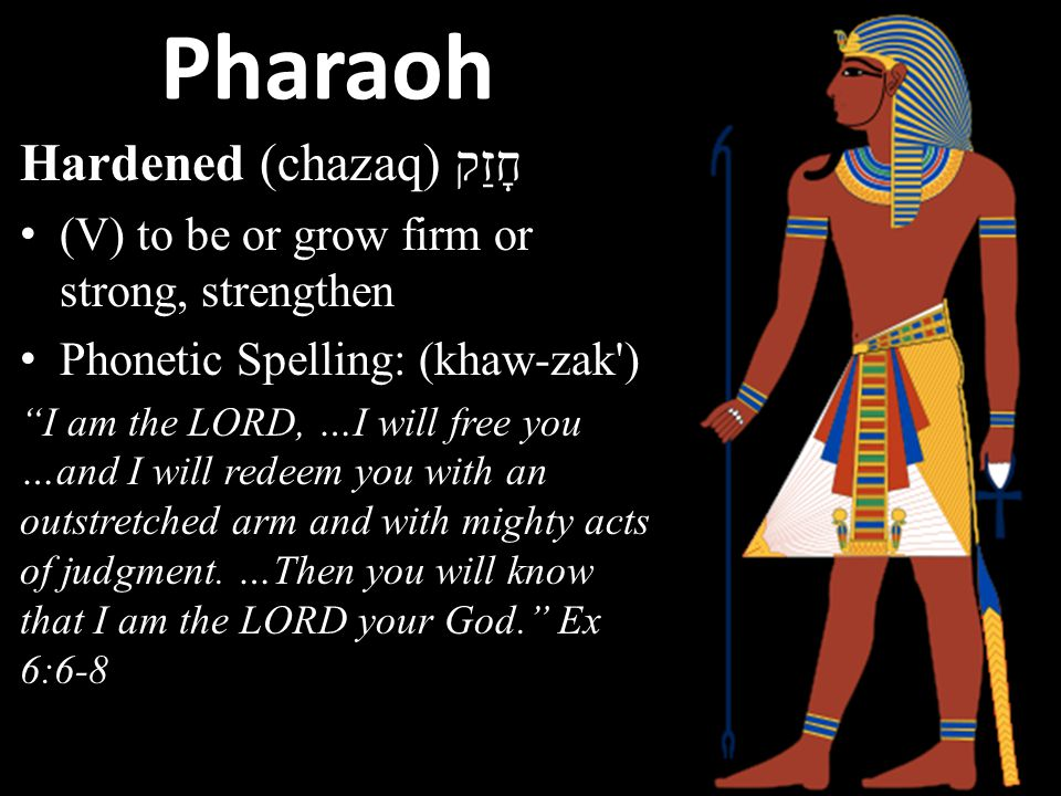 "Pharaoh Son of the Egyptian god Ra Great house/ Royal Palace Scepter was a cobra to protect him from his enemies ""good god"" ""Who is the LORD, that I s"