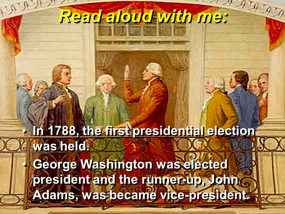 B tell A Who became the nation's first vice-president.