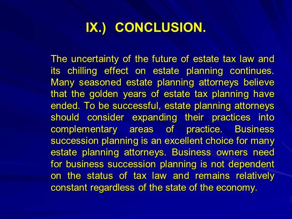 IX.)CONCLUSION.