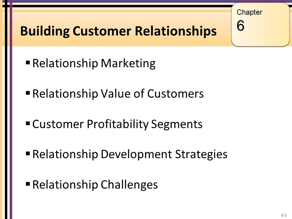 Building Customer Relationships  Relationship Marketing  Relationship Value of Customers  Customer Profitability Segments  Relationship Developmen