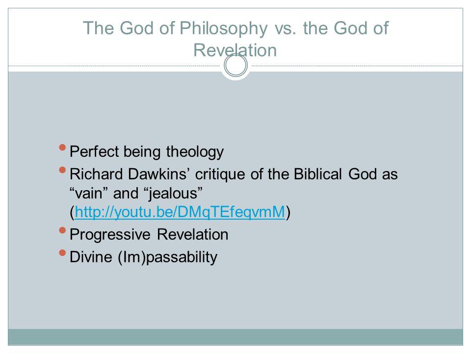 The God of Philosophy vs.