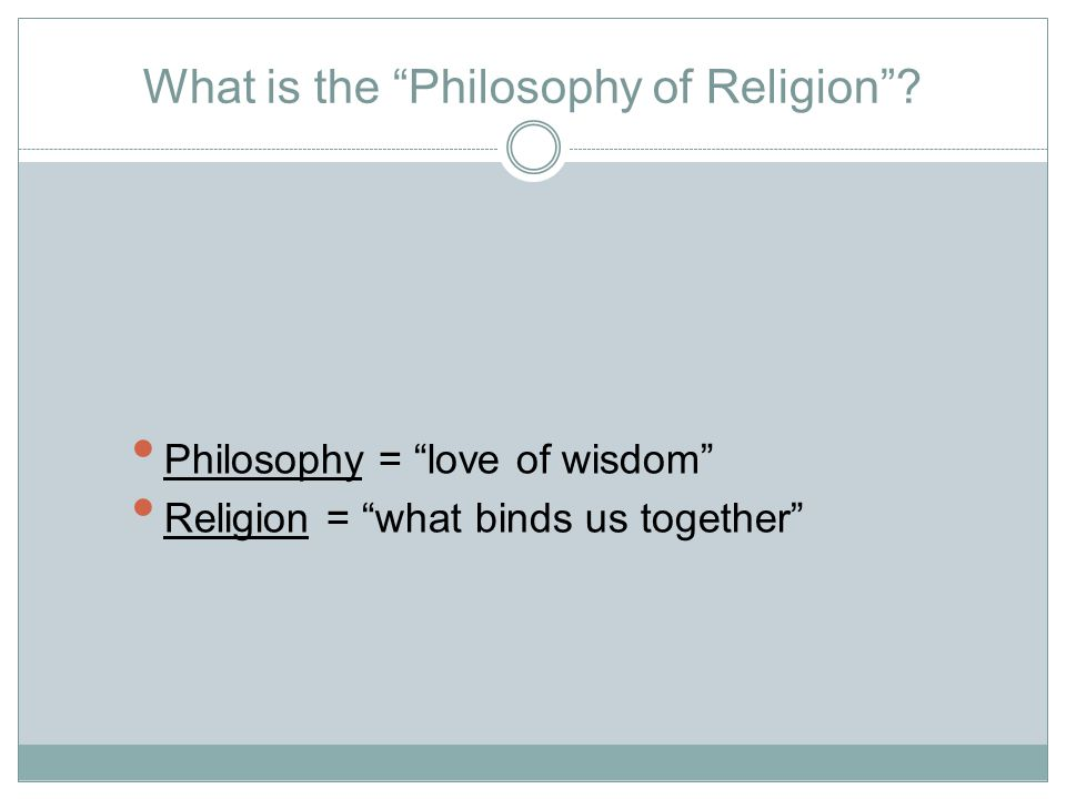 What is the Philosophy of Religion .