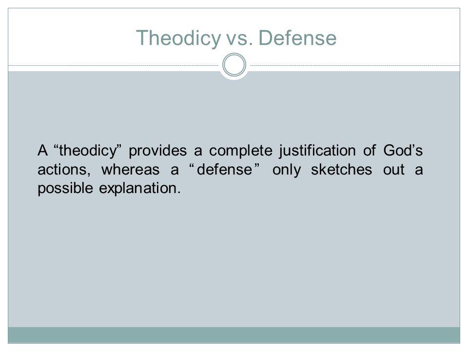 Theodicy vs.