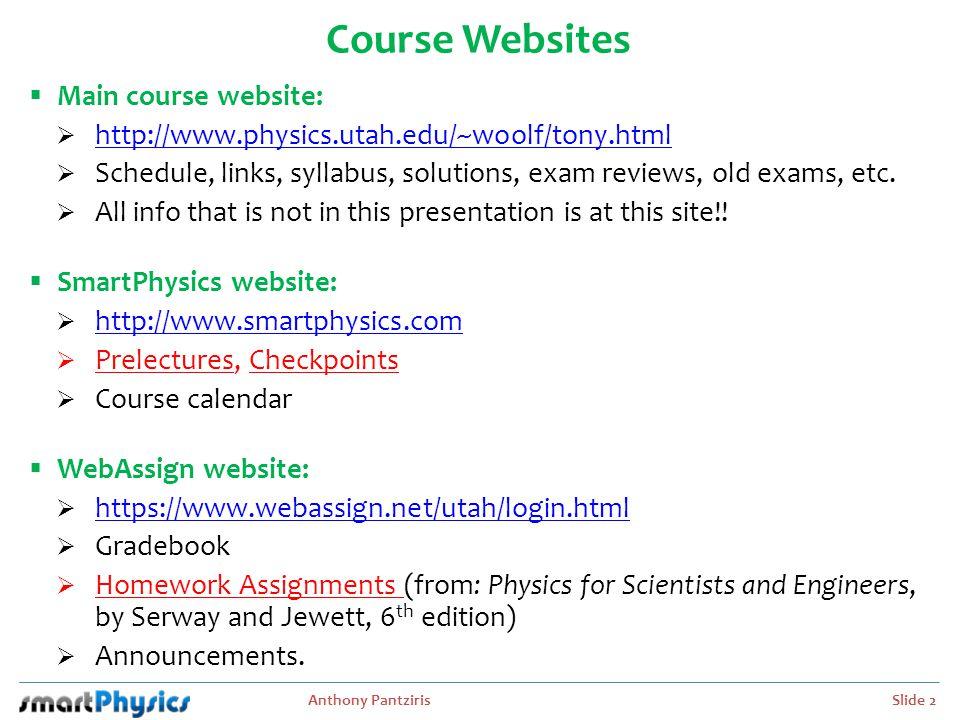 Anthony Pantziris Slide 3 Contact Information  Instructor: Prof.