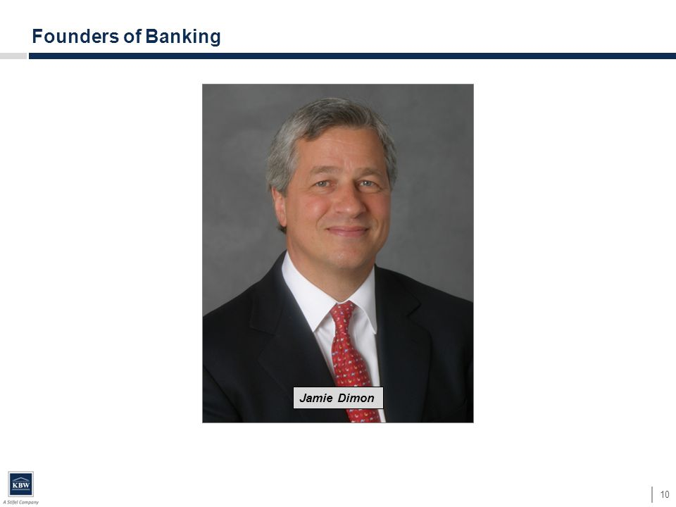 10 Founders of Banking Jamie Dimon