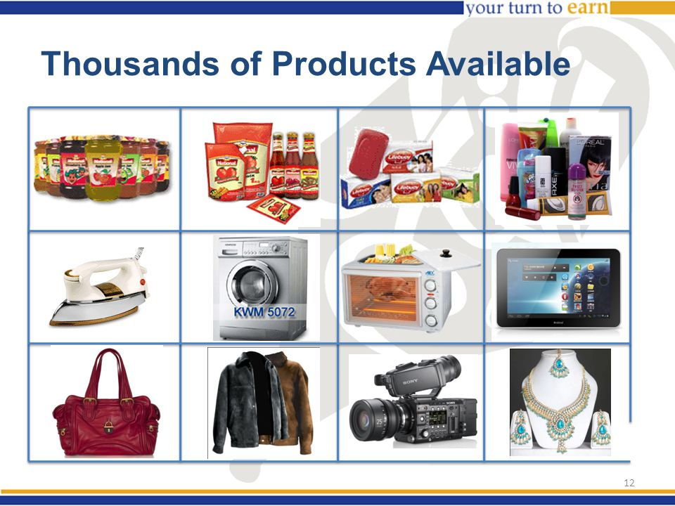 Thousands of Products Available 12