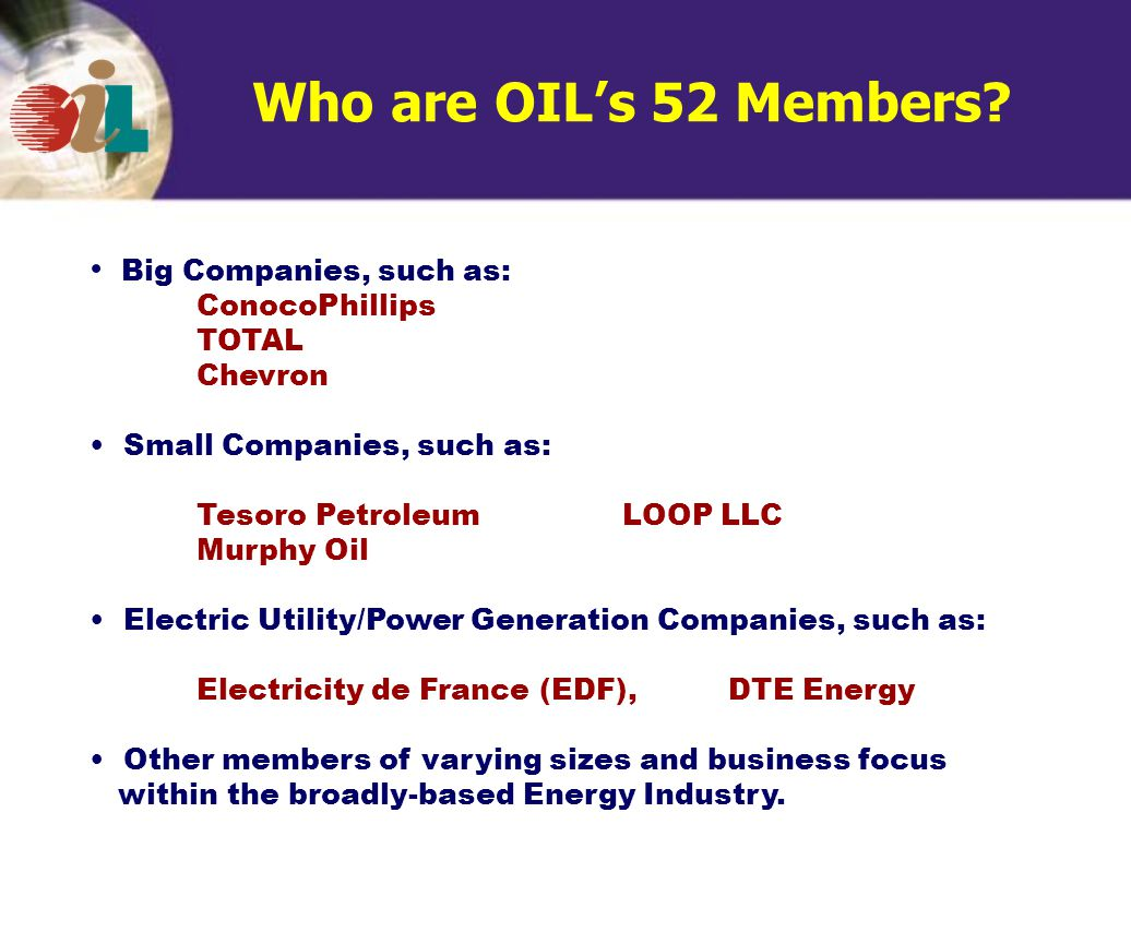 Who are OIL's 52 Members.