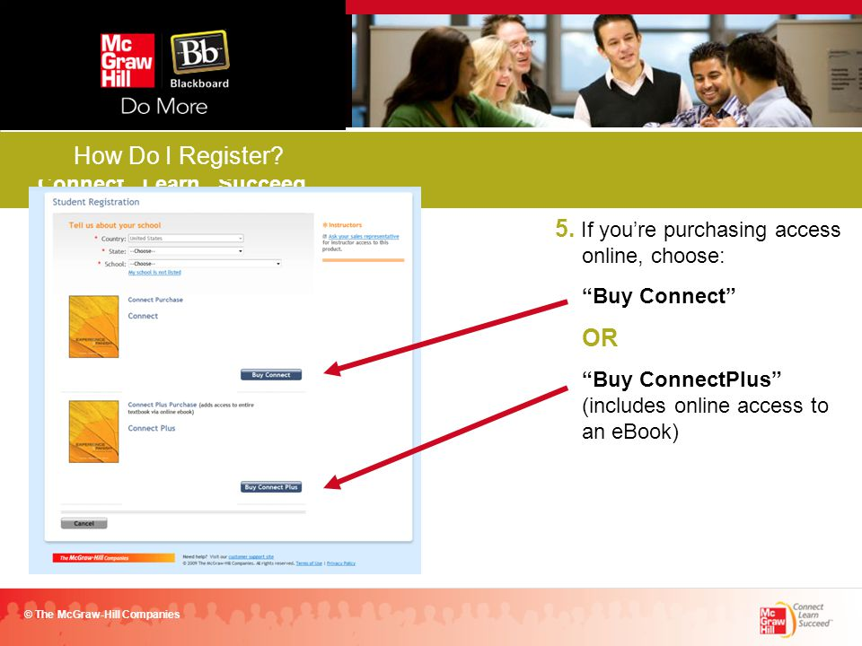Connect. Learn. Succeed. © The McGraw-Hill Companies FALL 2011 How Do I Register.