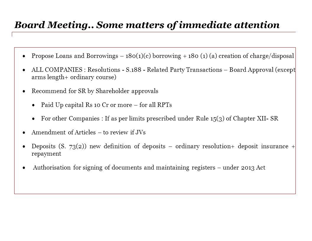 Board Meeting..