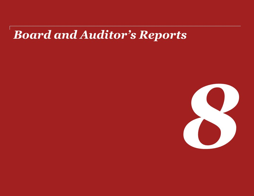 Board and Auditor's Reports 8