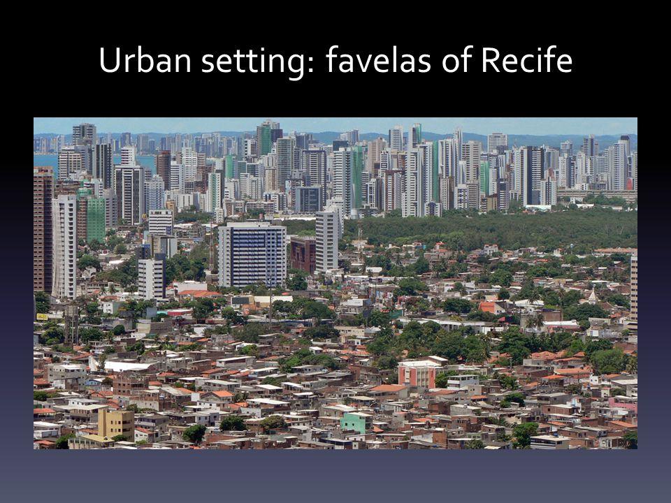 Urban setting: favelas of Recife