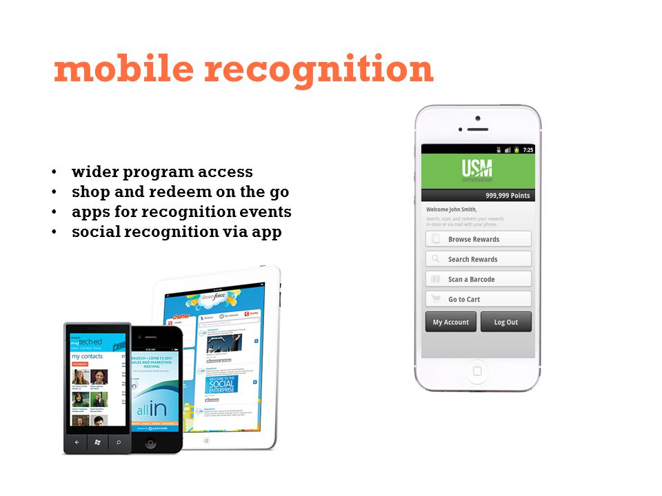 mobile recognition wider program access shop and redeem on the go apps for recognition events social recognition via app