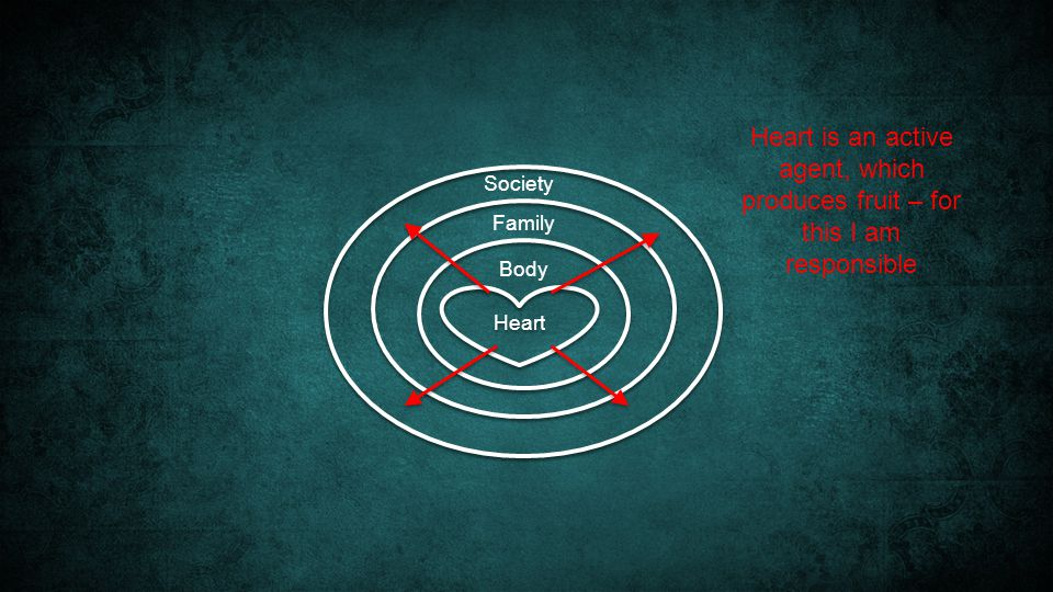 Heart Society Family Body Heart is an active agent, which produces fruit – for this I am responsible
