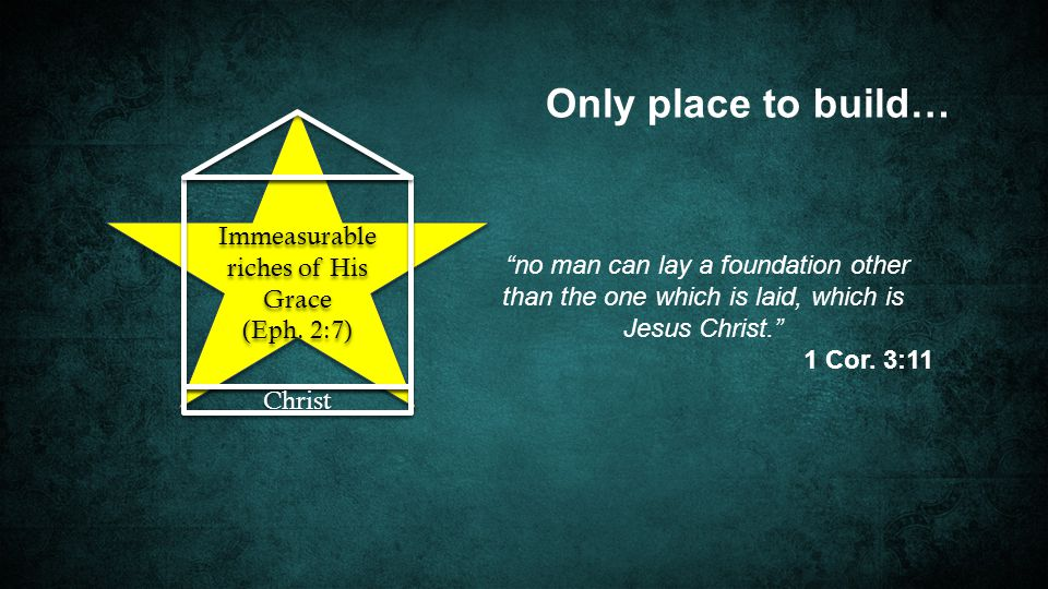 Immeasurable riches of His Grace (Eph. 2:7) Immeasurable riches of His Grace (Eph.