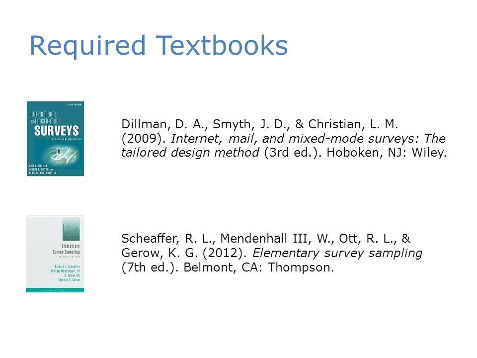 Required Textbooks Dillman, D. A., Smyth, J. D., & Christian, L.