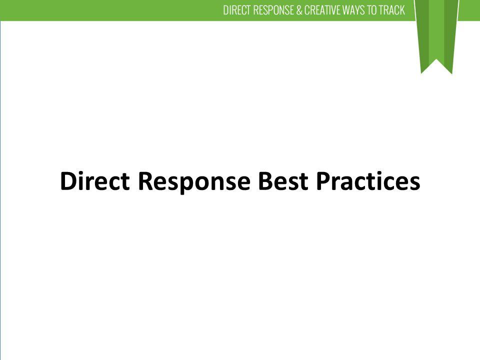 Direct Response Best Practices