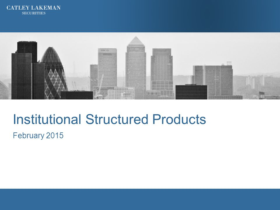 Institutional Structured Products February 2015