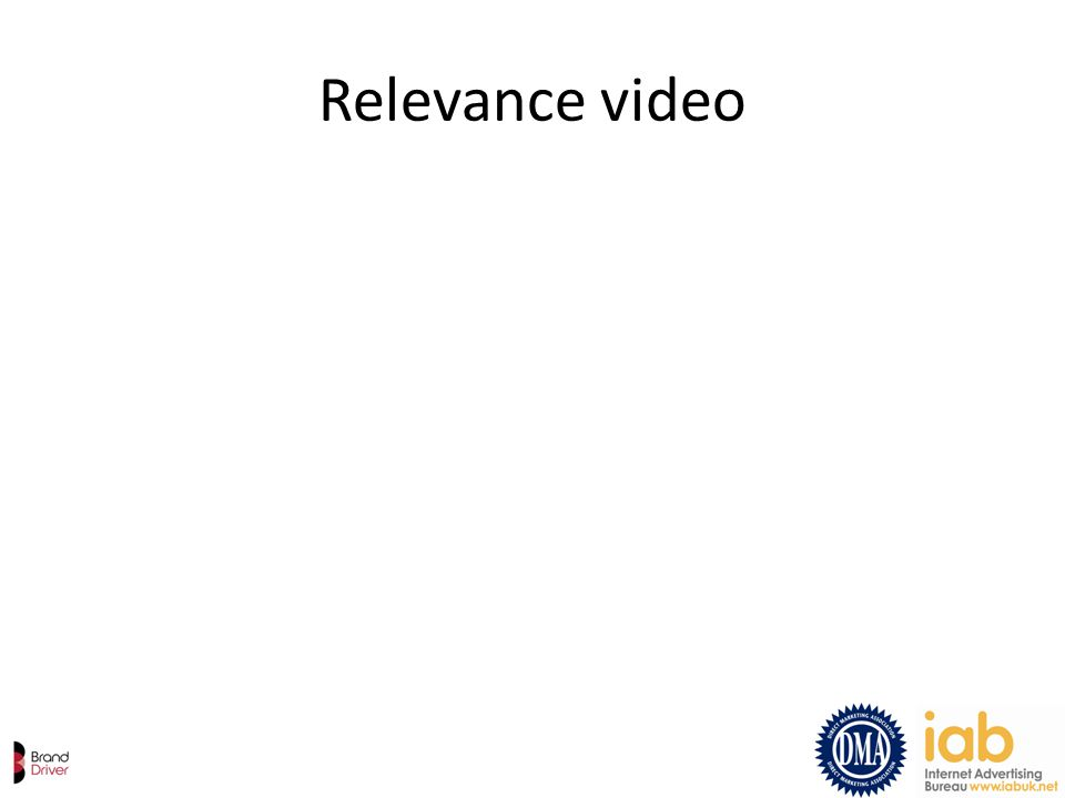 Relevance video