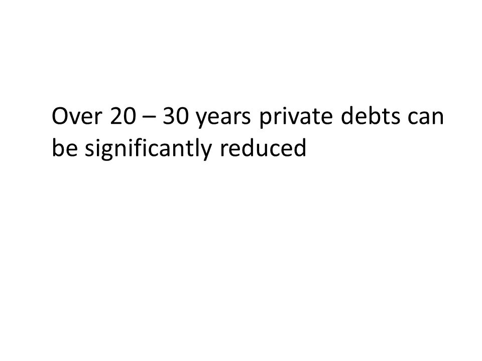 Over 20 – 30 years private debts can be significantly reduced