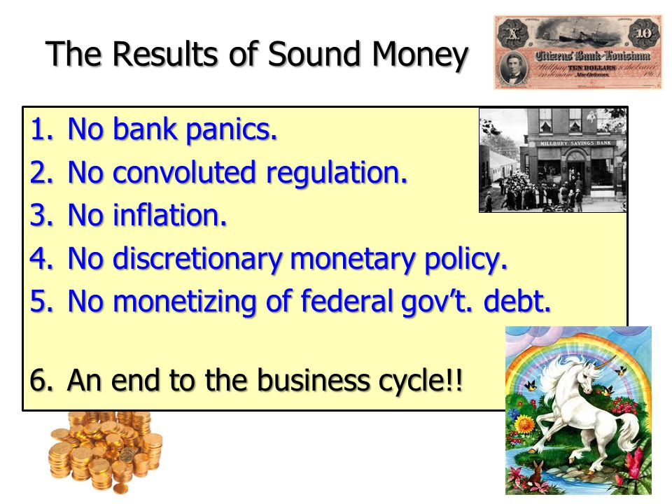 Rothbard - A Return to Sound Money Get back on the gold standard.