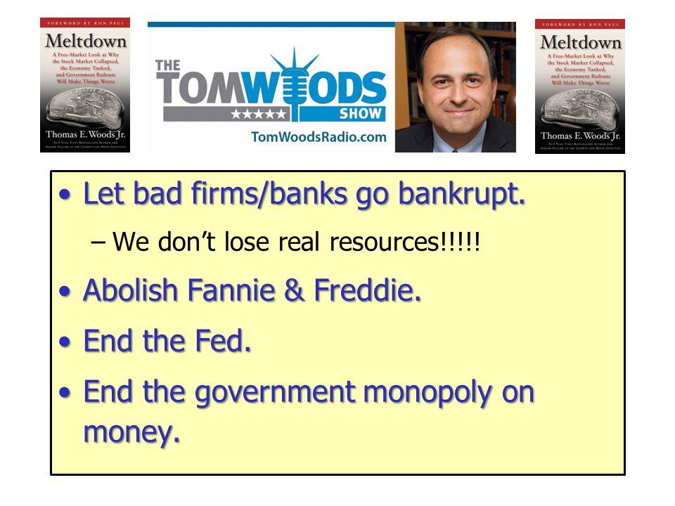 The Results of Sound Money 1.No bank panics. 2.No convoluted regulation. 3.No inflation. 4.No discretionary monetary policy. 5.No monetizing of federa