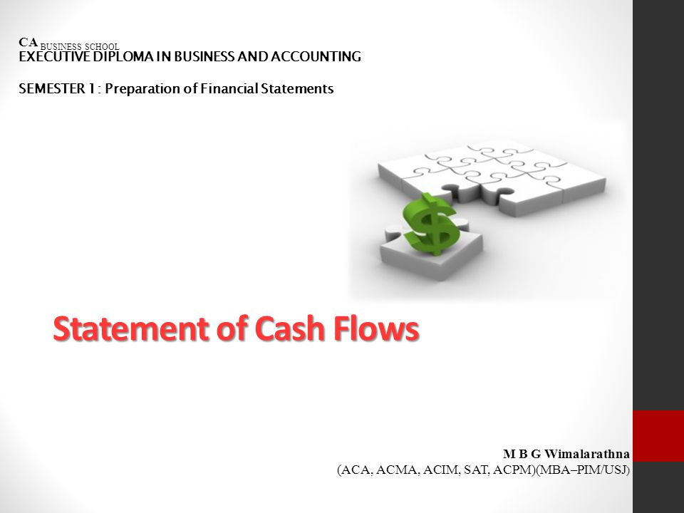 Introduction Statement of cash flows clearly shows cash inflows and outflows of the entity and end result of net cash position for the given particular period of time.
