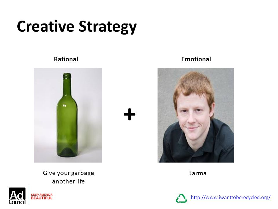 Creative Strategy http://www.iwanttoberecycled.org/ + RationalEmotional Give your garbage another life Karma