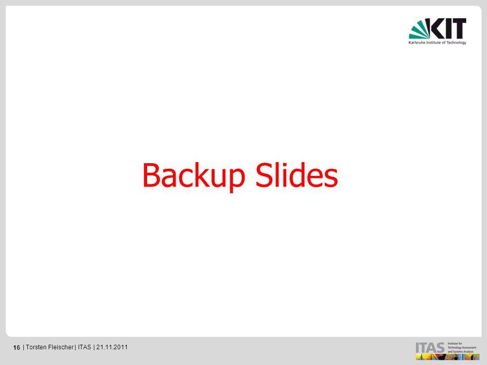 16 Backup Slides | Torsten Fleischer | ITAS | 21.11.2011